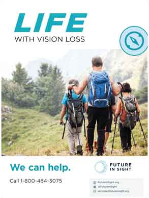 Life With Vision Loss Poster - Hiking