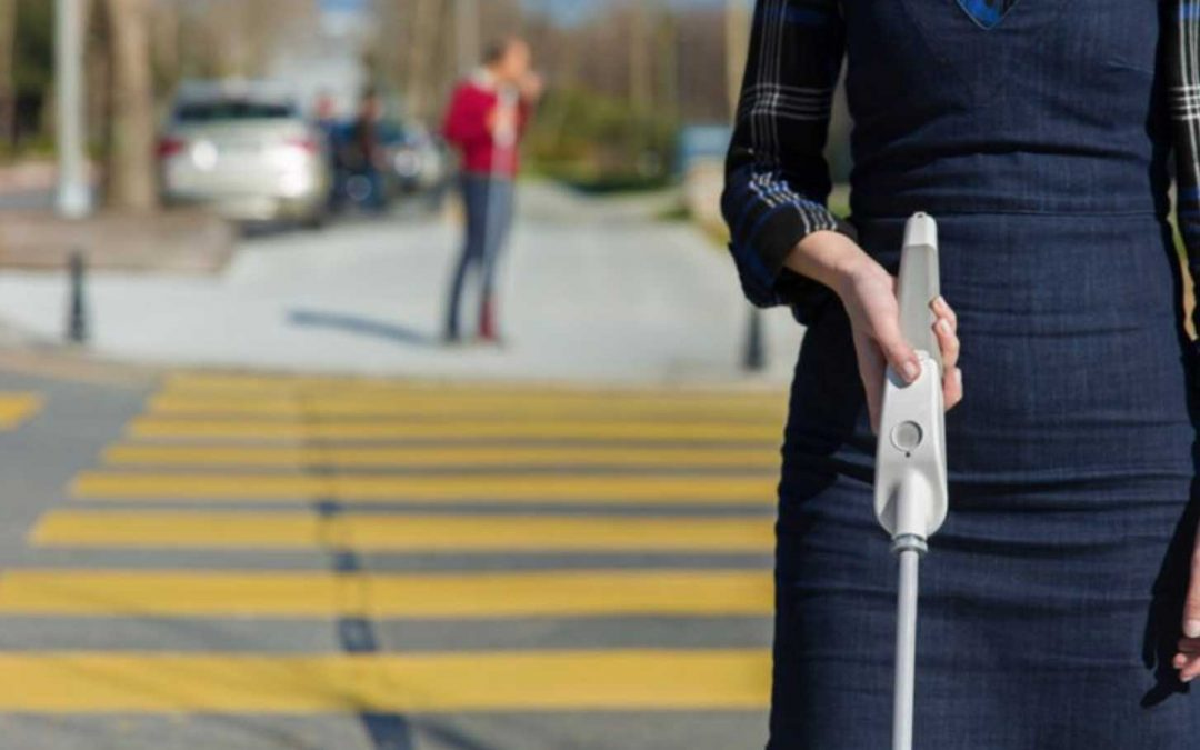 The WeWalk Smart Cane Test Drive Video