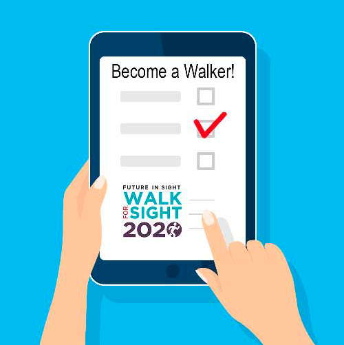 Register as a walker for the Walk for Sight 2020