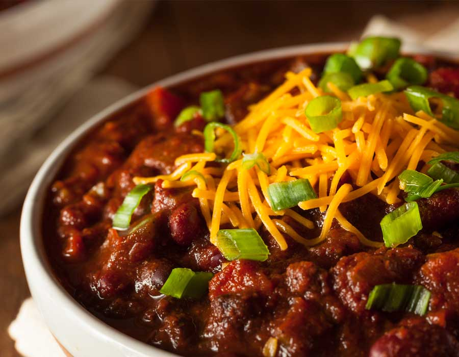 Cooking tasty chili with Chef Michael