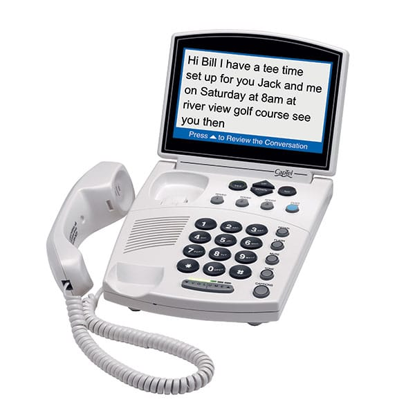 Captel 840i Captioned Telephone side view