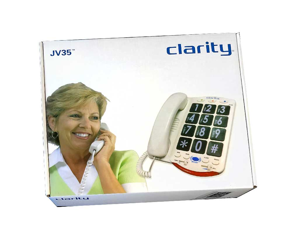 Clarity JV35 Phone with Black Buttons