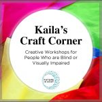 Kaila's Craft Corner Podcast cover with bright colored craft paper