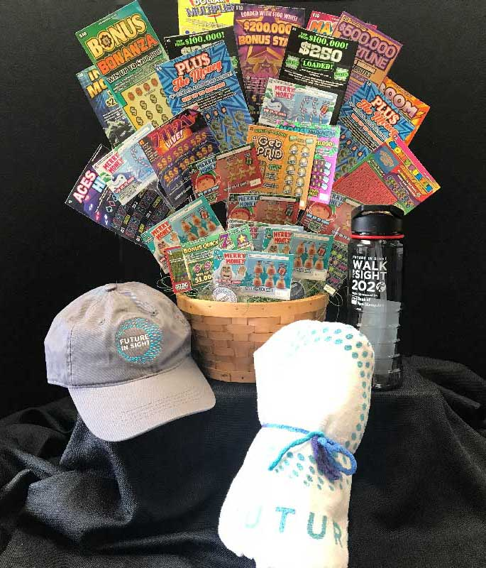 Lucky Play Lottery Basket