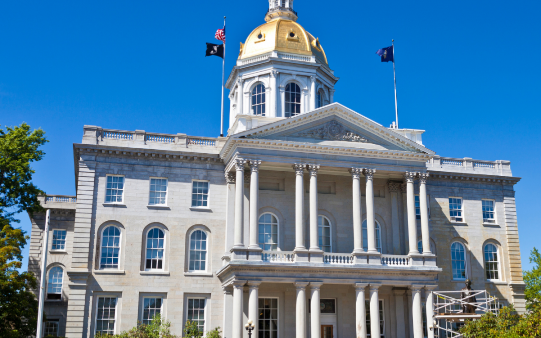 Concord State Capitol - Gov Sununu declares October 2021 as White Cane & Dog Guide User Awareness Monthhi